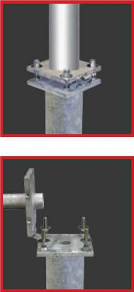 Stahl-Bodenhalterung, kippbar, Typ KIK135
