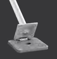 Typ FKI 75, Halterung für Fahnenmasten, kippbar