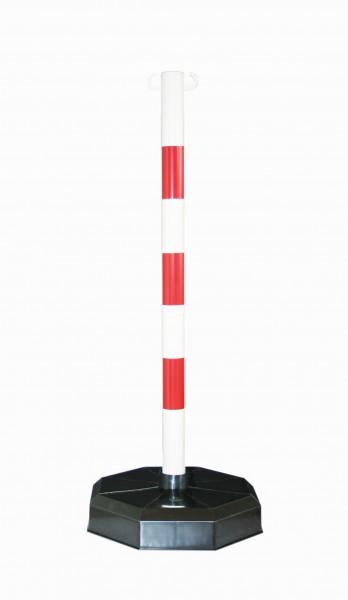 Mobile Kunststoffpfosten rot/schwarz, ø 48 mm