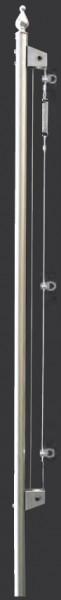 FSE-H, Edelstahl-Fahnenstange mit Hissvorrichtung