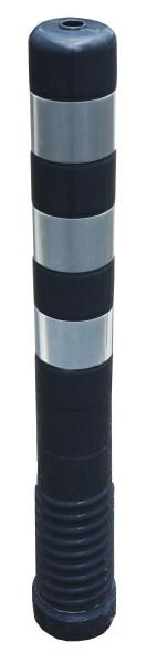 Flexibler überfahrbarer Kunststoff-Absperrpfosten GRAU ASKi 80/750