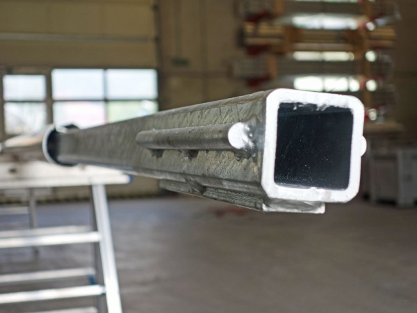 Stahlrohrverstärkung für Fahnenmasten