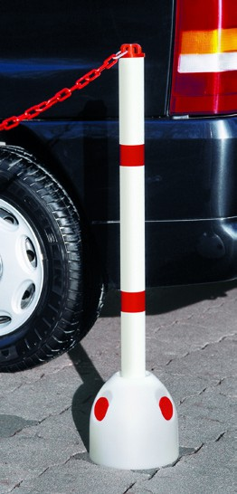 Parkpilz mit Sperrpfosten, Durchmessesr 60 mm