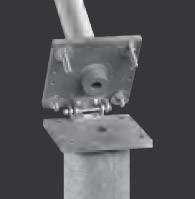 Typ KIK 75, Stahl-Bodenhalterung, Komfort, kippbar, Mastaufnahme innen